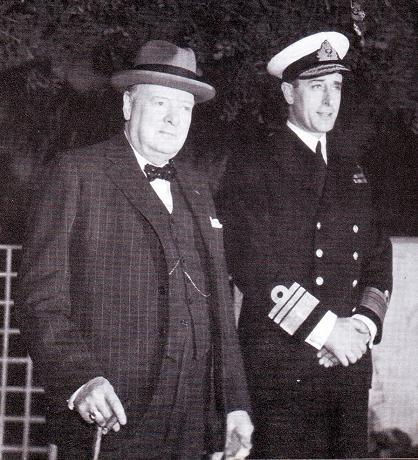 Churchill and Mountbatten, 1943
