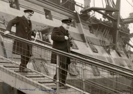 Churchill and HMS Victory