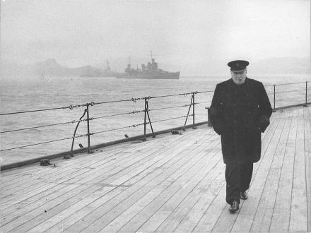Churchill on HMS Prince of Wales 1941